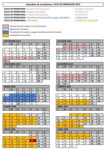 Calendario Primavera